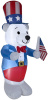 4 Foot Polar Bear with Flag Patriotic Inflatable