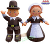 4 Foot Pilgrim Boy and Girl Thanksgiving Inflatable