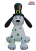 St Patrick's Day 8 Foot Puppy Dog Inflatable