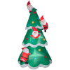 Christmas Tree of Multiple Santa's Christmas Inflatable