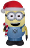 Minion Dave in Santa Hat Christmas Airblown