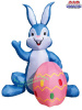 6 Foot Blue Bunny with Pink Egg Easter Inflatable