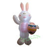 7 Foot White Bunny Holding Egg Easter Inflatable