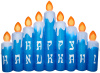 8.5 Foot Hanukkah Candle Scene Airblown Inflatable