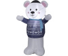 4 Foot Hanukkah Polar Bear Airblown Inflatable Decoration