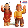 Indian Boy and Girl Thanksgiving Inflatable
