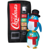 Merry Christmas Penguins and Soda Machine Scene Inflatable