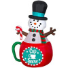 Animated Snowman In Cup Of Snow Holiday Inflatable