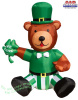 St Patrick's Day Bear with Shamrock Airblown Inflatable