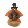 5 Foot Turkey Sitting  On Straw Bale Thanksgiving Inflatable