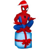 Spider Man on Gift Box Christmas Inflatable