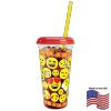 32 oz Clear Emoji Drink Cups