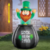 Leprechaun in Pot St. Patrick's Day Inflatable