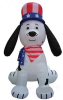 Puppy Dog Patriotic Inflatable