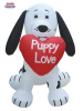 Valentine Dalmation Puppy with a Big Heart Inflatable
