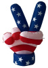 6 Foot US Hand Doing the Peace Sign Patriotic Inflatable